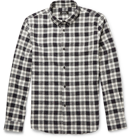 A.P.C. Cotton and Silk-Blend Flannel Shirt