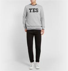 A.P.C. Printed and Stitched Cotton-Blend Jersey Sweatshirt
