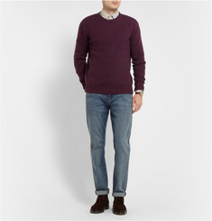 A.P.C. Flecked Knitted Wool Crew Neck Sweater