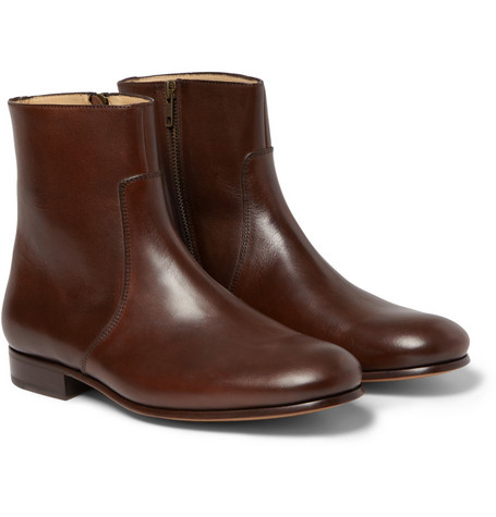 A.P.C. Leather Side-Zip Boots