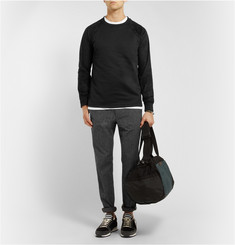 A.P.C. Cotton-Jersey and Faux-Suede Sweatshirt