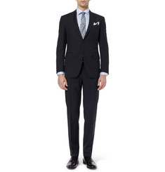 Canali Navy Slim-Fit Wool Travel Suit