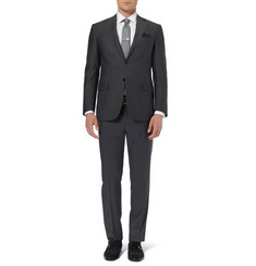Canali Grey Slim-Fit Wool Travel Suit