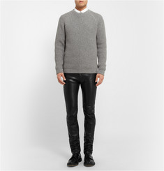 Acne Studios Depp Fly Leather Trousers