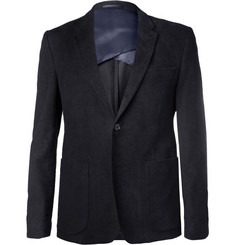 Acne Studios Black Stan J Slim-Fit Moleskin Suit Jacket
