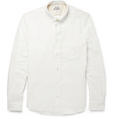 Acne Studios Isherwood Button-Down Collar Moleskin Shirt