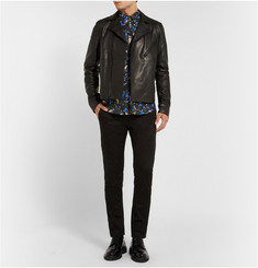 Acne Studios Isherwood Button-Down Collar Printed Cotton Shirt