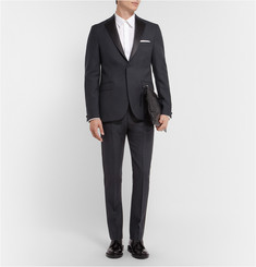 Acne Studios Drifter T Slim-Fit Wool Tuxedo Trousers