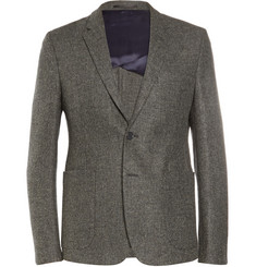 Acne Studios Grey Stan J Slim-Fit Wool-Blend Tweed Suit Jacket