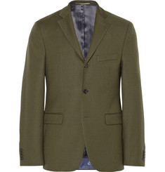 Acne Studios Dark Olive Drifter Slim-Fit Wool-Twill Suit Jacket