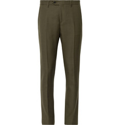 Acne Studios Dark Olive Drifter Slim-Fit Wool-Twill Suit Trousers