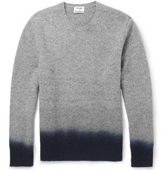 Acne Studios Dip-Dye Mélange-Knit Wool Sweater