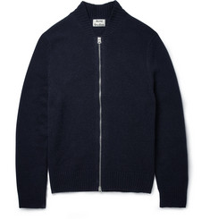 Acne Studios Chet Zipped Knitted-Wool Cardigan