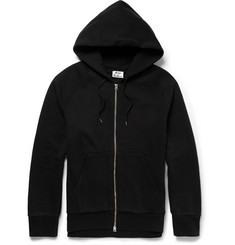 Acne Studios Justin Zipped-Side Cotton-Jersey Hoodie