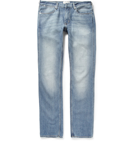 Acne Studios Max LT Vintage Washed-Denim Jeans