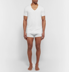 Derek Rose Jack Pima Cotton-Blend V-Neck T-Shirt