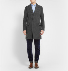 Sacai Slim-Fit Check Wool and Cotton-Blend Coat