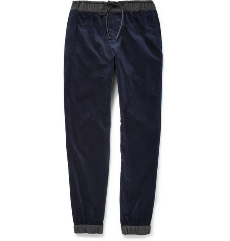 Sacai Corduroy Trousers With Elasticated Trims