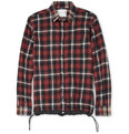 Sacai - Check Cotton-Flannel Contrast-Hem Shirt