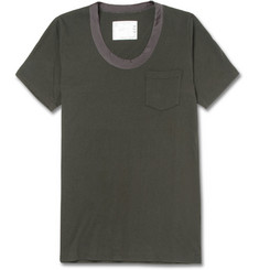 Sacai Contrast-Collar Cotton-Jersey T-Shirt