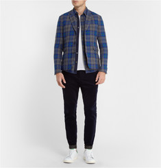 Sacai Check Wool Blazer and Lightly-Quilted Gilet