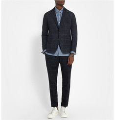 Sacai Slim-Fit Check Woven Suit Jacket
