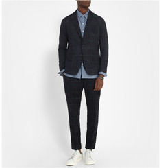 Sacai Slim-Fit Checked Woven-Velvet Suit Trousers