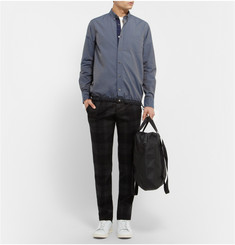 Sacai Cotton Contrast-Hem Shirt