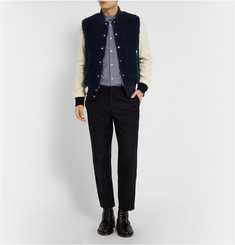 Sacai Fleece and Wool Bomber Jacket