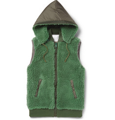 Sacai Hooded Fleece Gilet