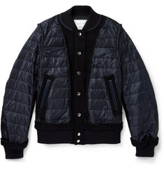 Sacai Nylon and Wool Bomber Jacket