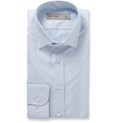 Etro Blue Slim-Fit Paisley Jacquard Cotton Shirt