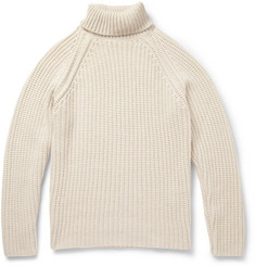 Etro Rib-Knit Cashmere Rollneck Sweater