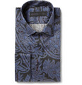 Etro Paisley Cotton Double-Cuff Shirt