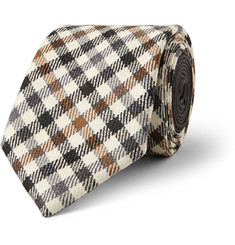 Etro Gingham Wool and Silk-Blend Tie