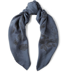 Gucci Printed Silk-Faille Scarf