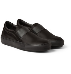 Acne Studios Hans Bomber Satin Slip-On Sneakers