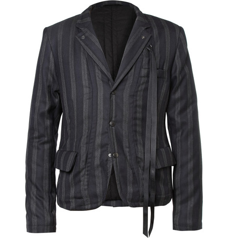 Ann Demeulemeester Reversible Lightly-Quilted Wool and Cotton Jacket