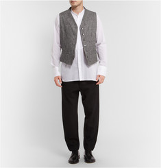 Ann Demeulemeester Striped Cotton-Blend Waistcoat