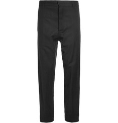 Ann Demeulemeester Tapered Brushed Wool-Blend Trousers