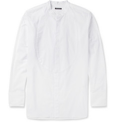 Ann Demeulemeester Grandad-Collar Cotton Shirt