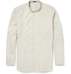 Ann Demeulemeester Bib-Front Cotton and Cashmere-Blend Shirt