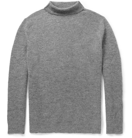 Ann Demeulemeester Knitted Alpaca and Wool-Blend Rollneck Sweater