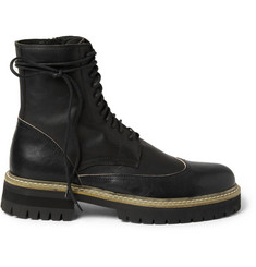 Ann Demeulemeester Chunky-Sole Leather Boots