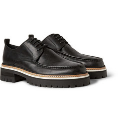 Ann Demeulemeester Chunky-Sole Oiled-Leather Derby Shoes