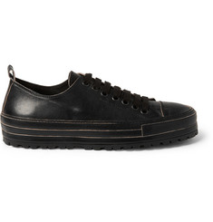 Ann Demeulemeester Leather Sneakers
