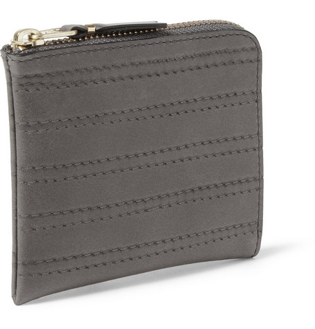 Comme des Garçons Stitch-Embossed Half-Zip Leather Wallet