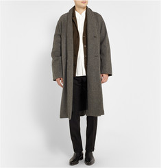 Christophe Lemaire Oversized Wool Shawl-Collar Coat