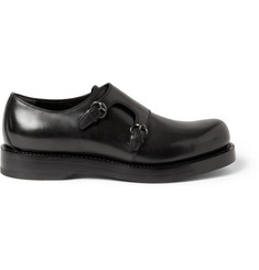 Gucci Leather Double Monk-Strap Shoes