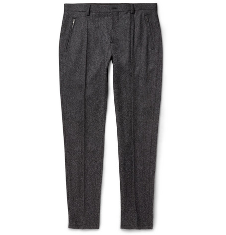 Dolce & Gabbana Slim-Fit Woven Wool-Blend Trousers